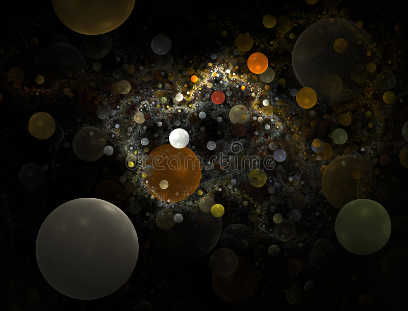 Bubble Universe - fractal royalty free illustration