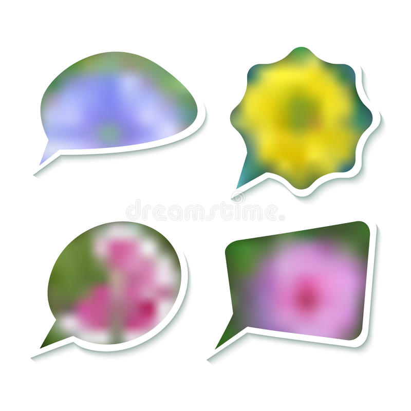 Bubble-vector-gentle-spring--white-background vector illustration