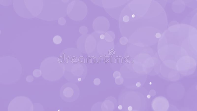 Bubble water bokeh abstract background with sweet purple color stock image
