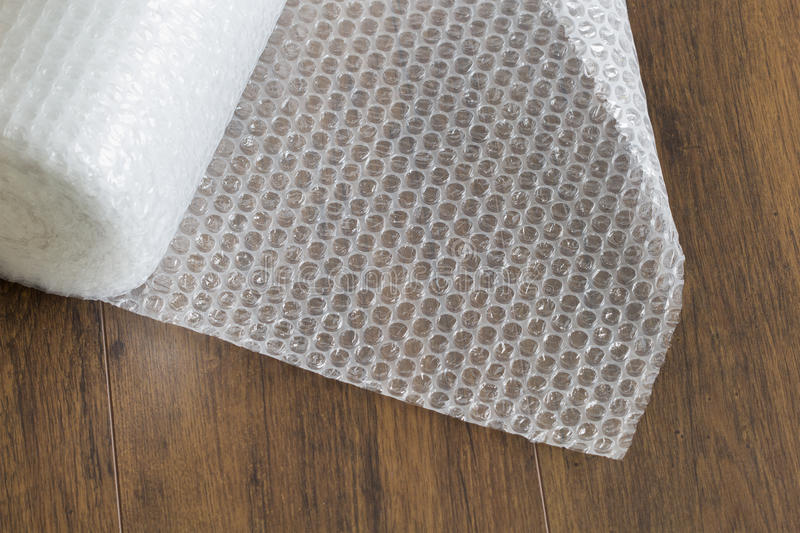 Bubble wrap roll royalty free stock photography