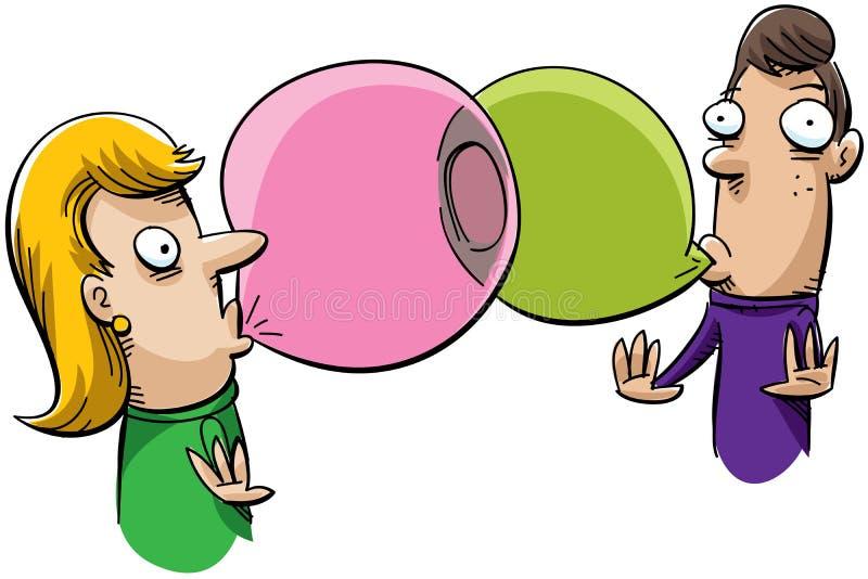 bubblegum连接数 库存例证