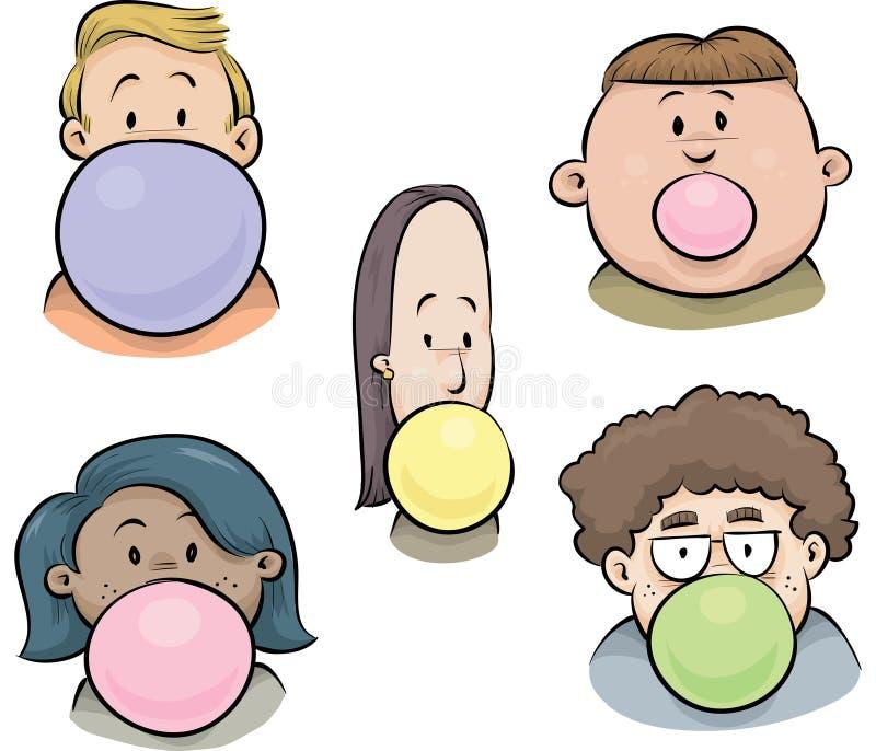Bubblegum面对 库存例证