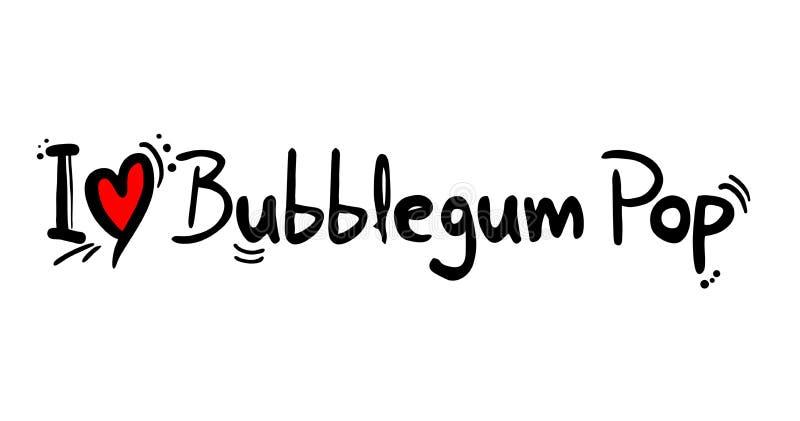 Bubblegum-Knall-Liebesmitteilung lizenzfreie abbildung