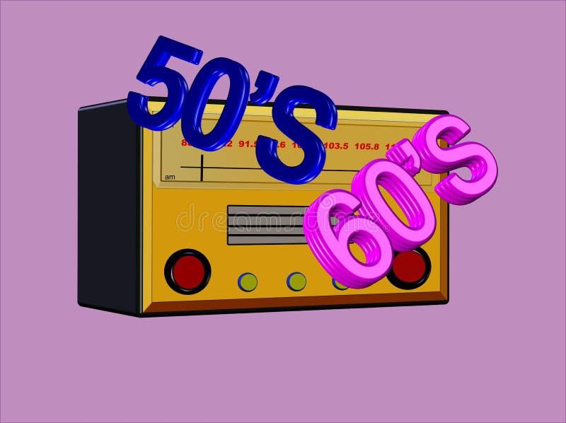 Bubblegum Radiotage lizenzfreie abbildung