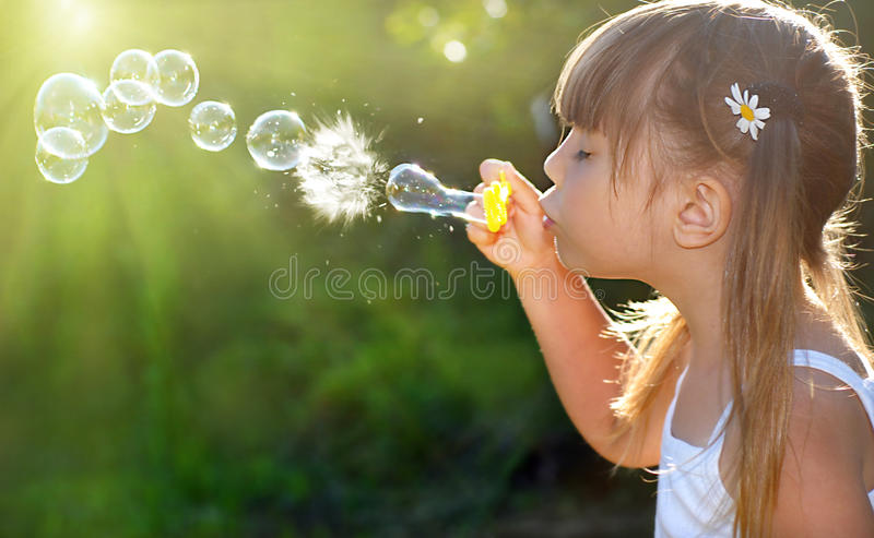 Download Bubbles stock image. Image of blowing, playful, face - 18813255