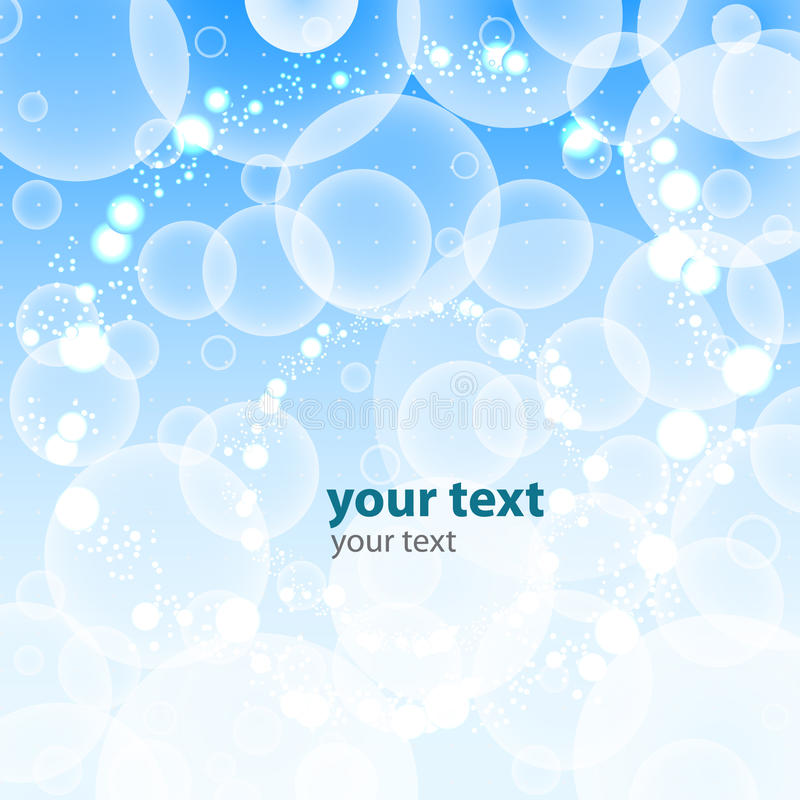 Bubbles Abstract Background Vector royalty free illustration