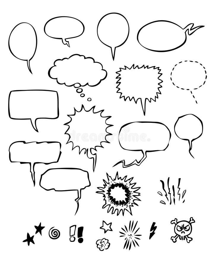 bubbles anförande vektor illustrationer