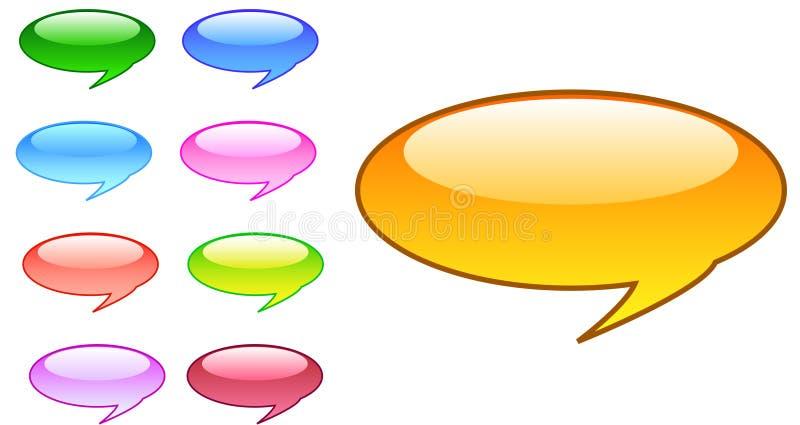 bubbles anförande stock illustrationer