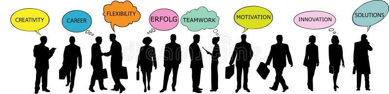 bubbles anförande för affärsfolk royaltyfri illustrationer