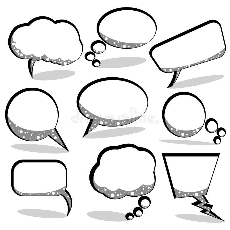 bubbles anförandetanke royaltyfri illustrationer