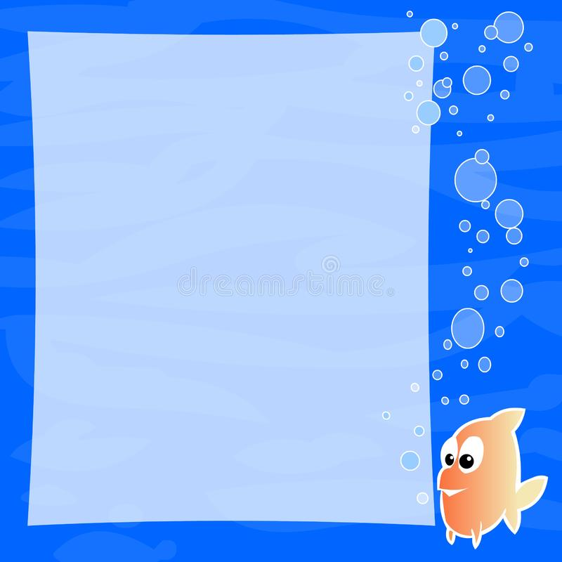 Bubbles Background Frame Stock Image