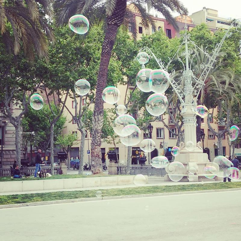 Bubbles in BCN stock image