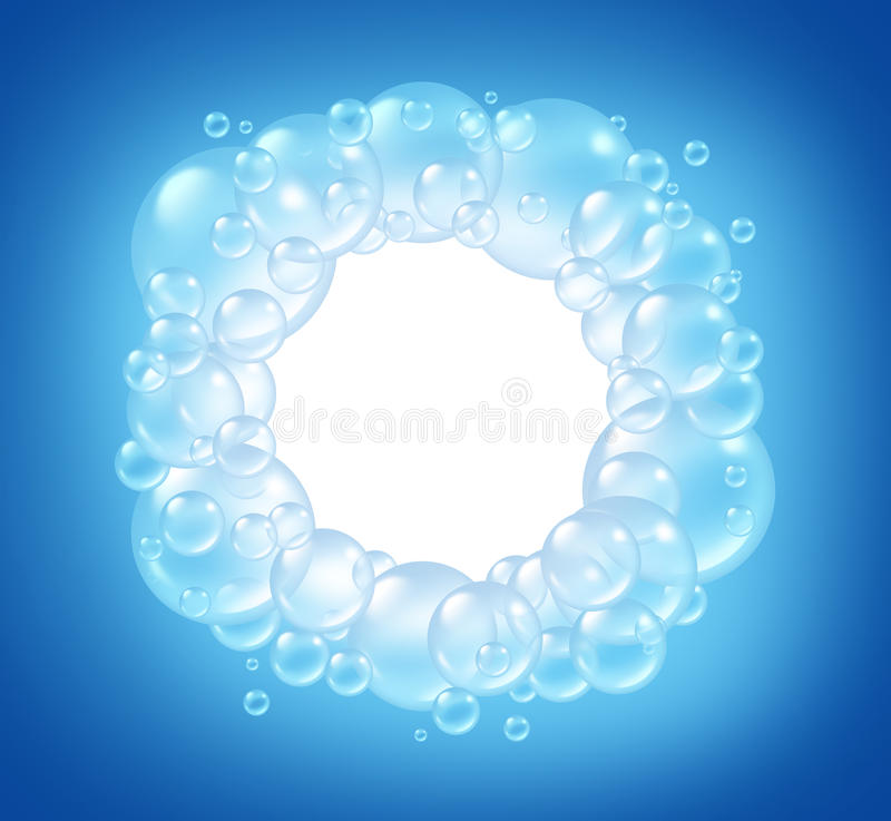 Bubbles Blank Circle In Clean Water Royalty Free Stock Photo