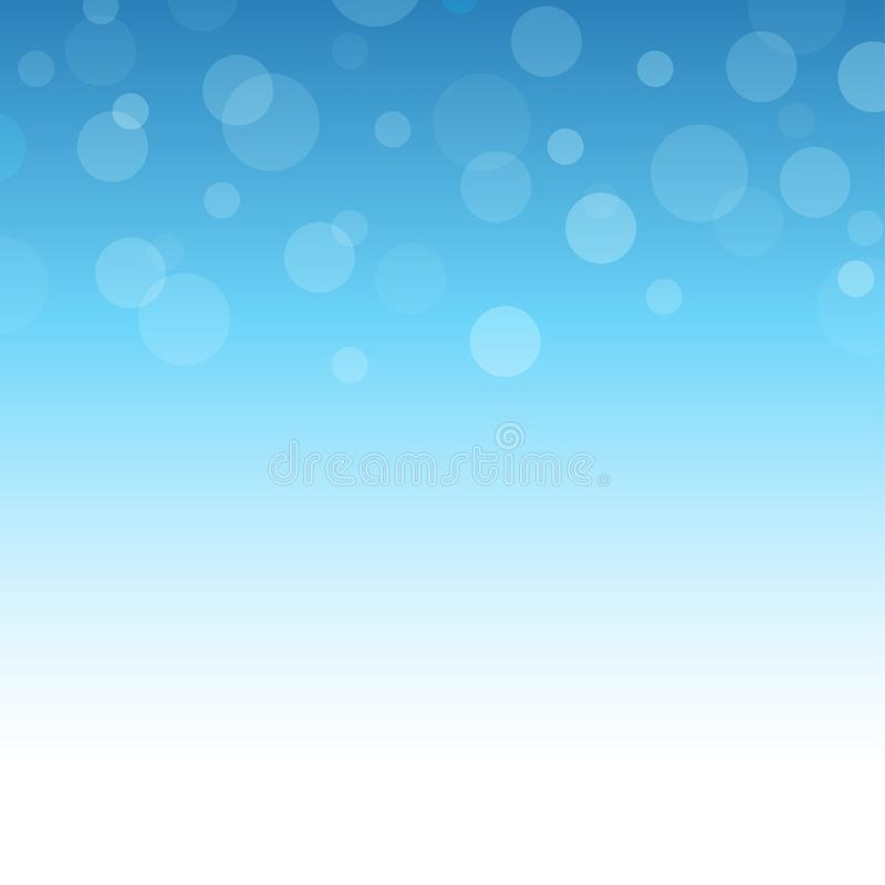 Bubbles with blue ocean abstract background royalty free illustration
