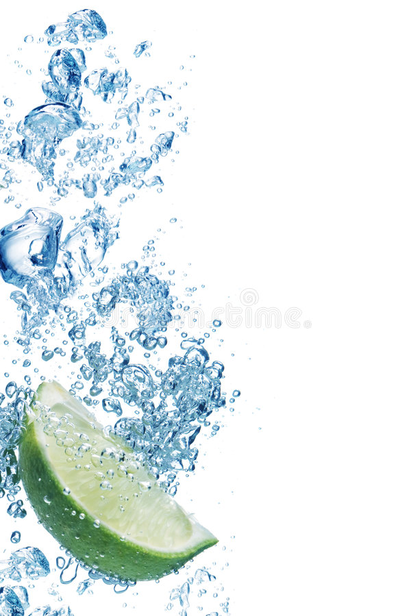Bubbles in blue water stock photos