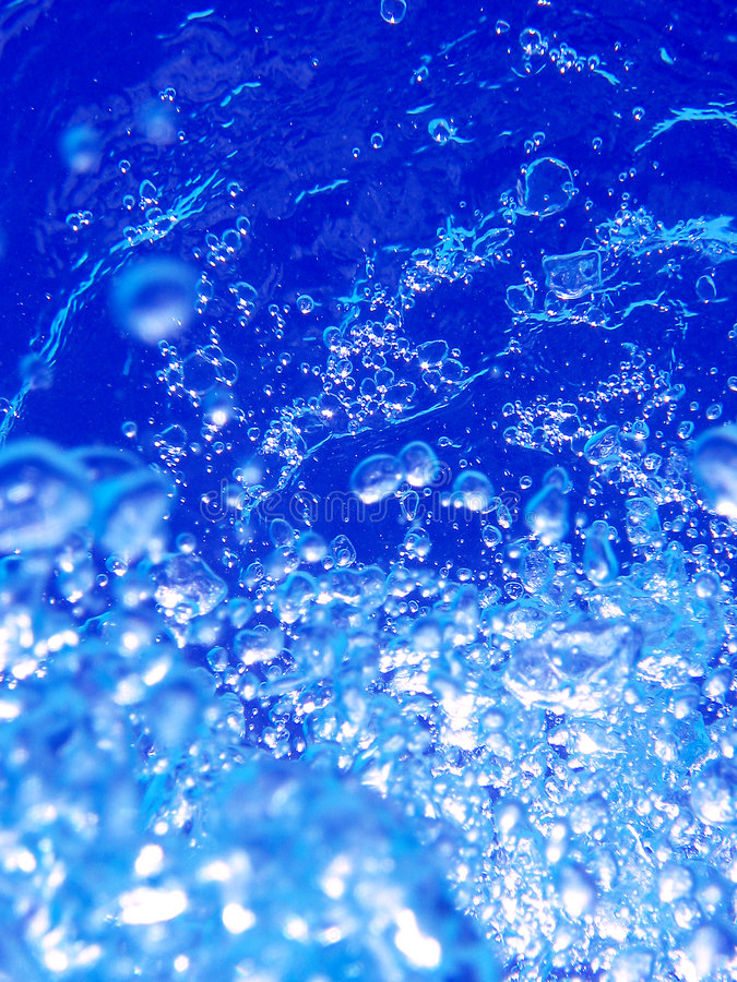 Download Bubbles In Blue Water Royalty Free Stock Photo - Image: 9053675