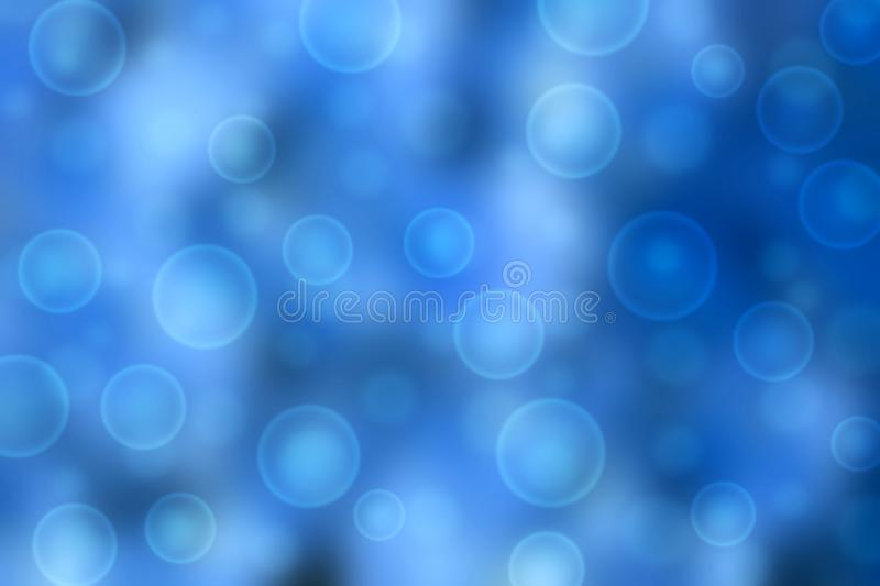 Bubbles and Bokeh in Blue Background stock photo