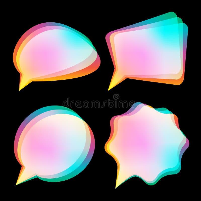 Bubbles color blurred stock illustration