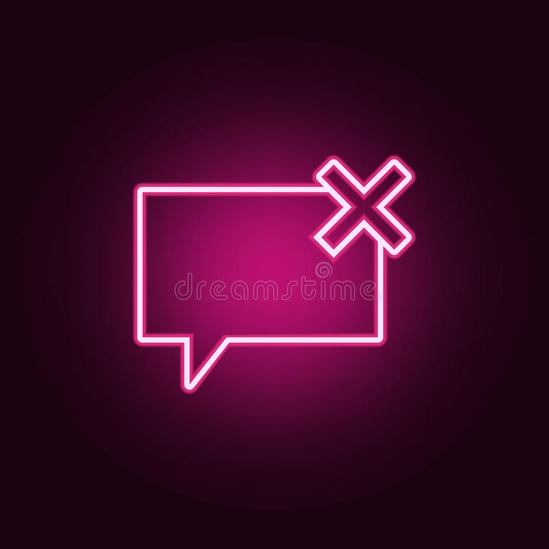 bubbles of communication with the critic icon. Elements of Web in neon style icons. Simple icon for websites, web design, mobile royalty free illustration