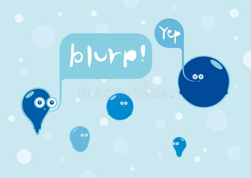 Bubbles conversation stock image