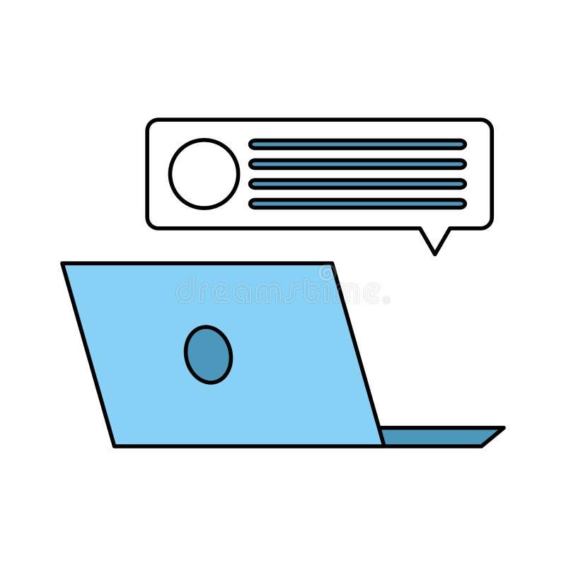 bubbles datorbärbar datoranförande royaltyfri illustrationer