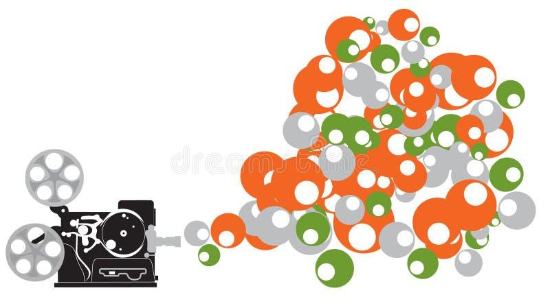 bubbles den gammala projektorn royaltyfri illustrationer