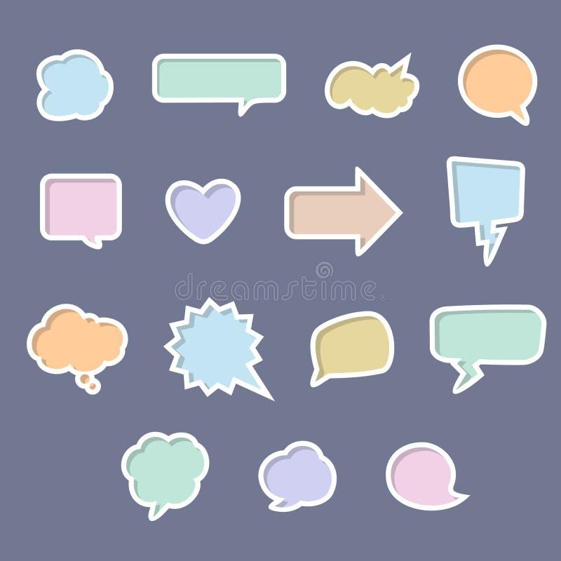 bubbles det färgrika samtalet stock illustrationer