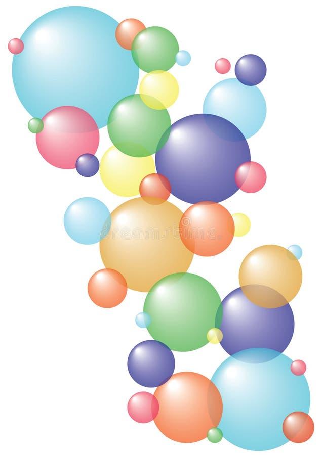 bubbles färgrikt flottörhus royaltyfri illustrationer