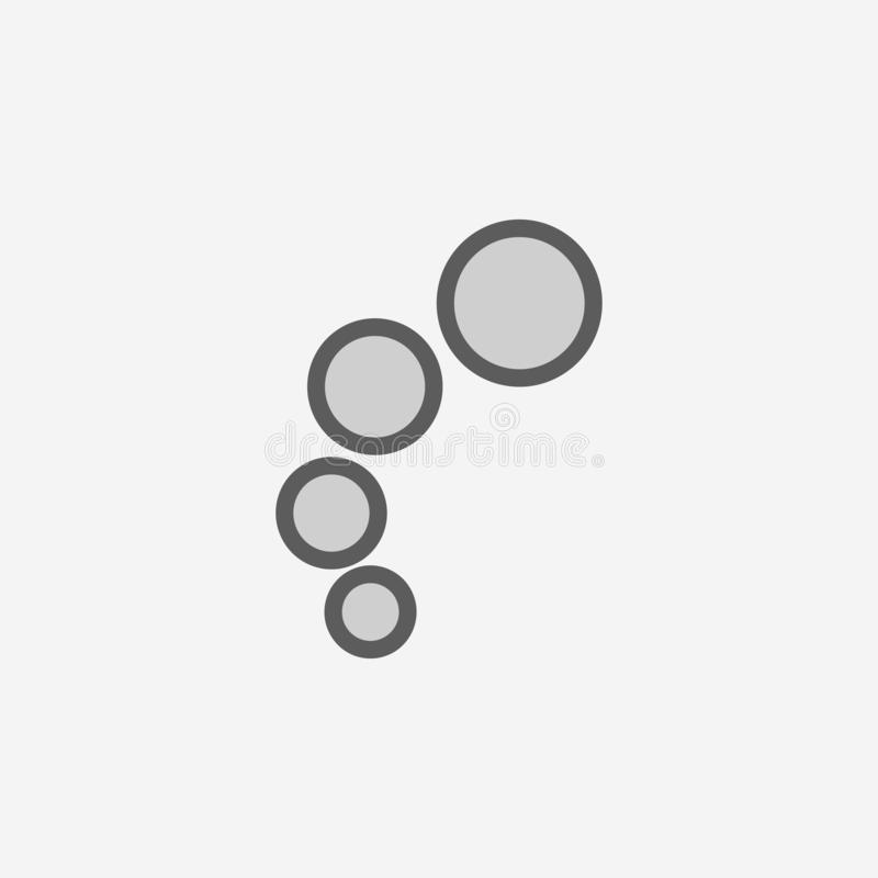bubbles field outline icon. Element of 2 color simple icon. Thin line icon for website design and development, app development. royalty free illustration