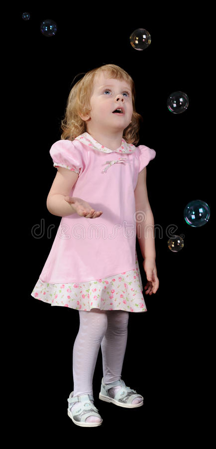 bubbles flickan little tvål fotografering för bildbyråer