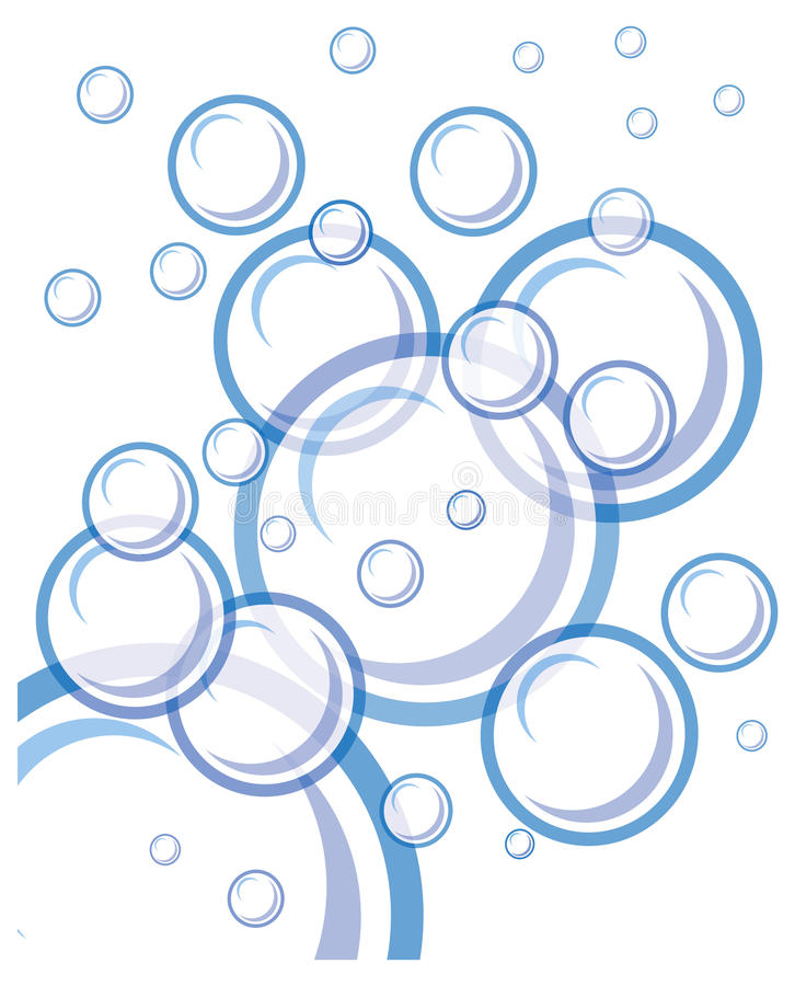 Download Bubbles Floating In White Background Stock Illustration - Illustration of float, blue: 15047775