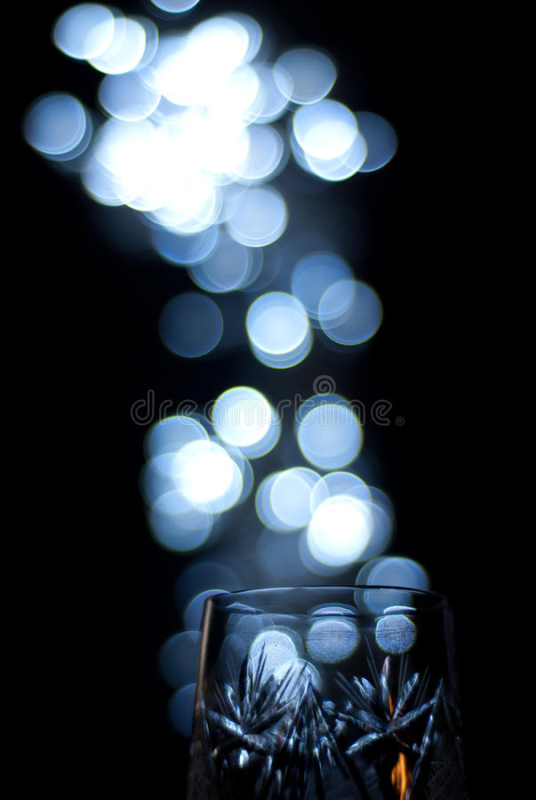 Bubbles And Glass Royalty Free Stock Photography