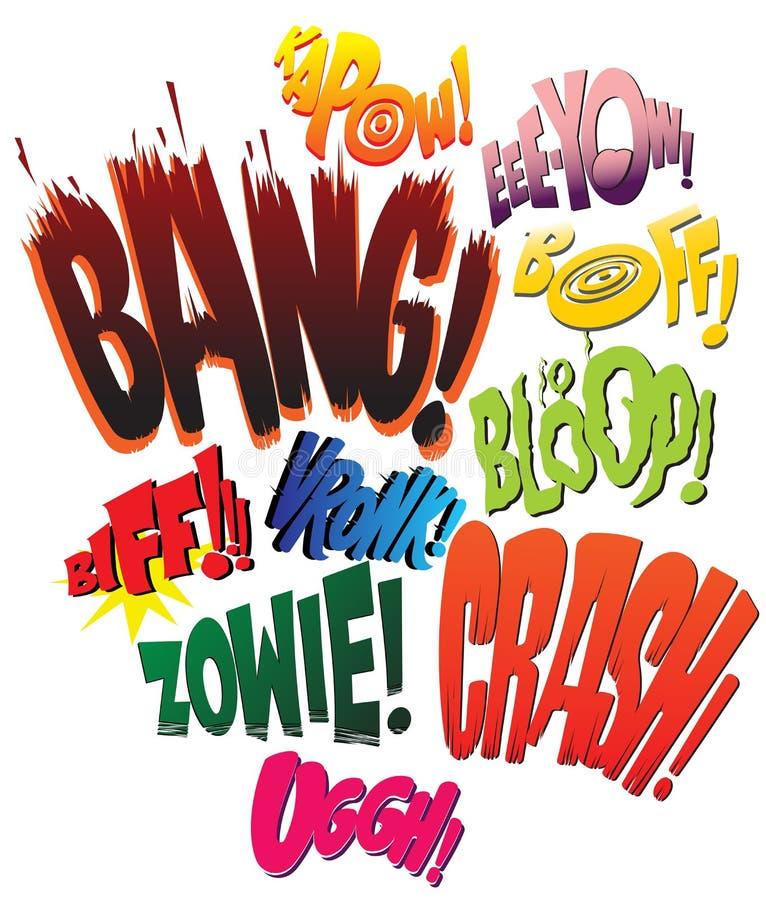 bubbles komiskt anförande stock illustrationer
