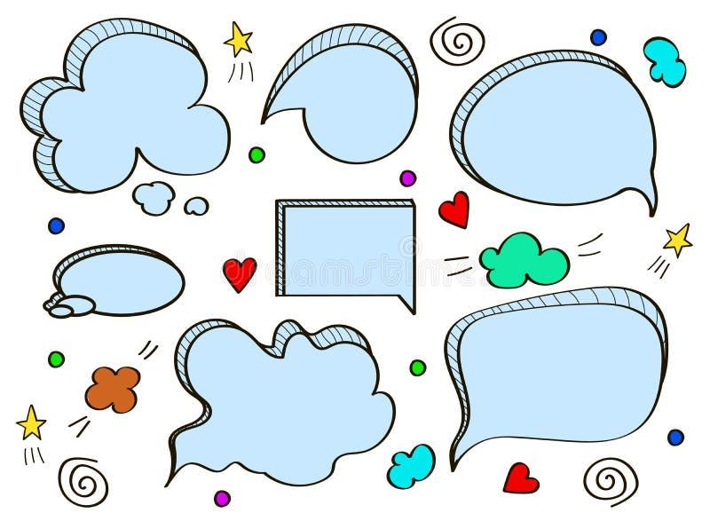 bubbles komiskt anf?rande vektor illustrationer