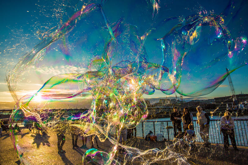 Bubbles london. A guy creating joy in the beautiful hearts of the kids by making magical bubbles