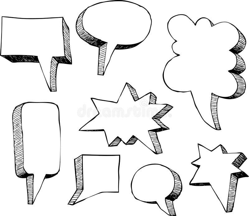 bubbles mer mitt portföljsetsanförande stock illustrationer