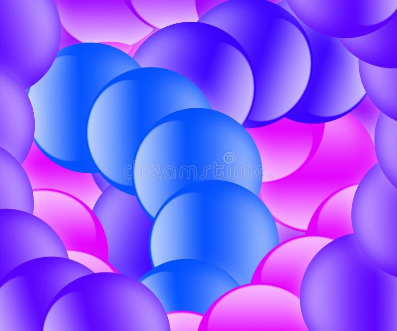 bubbles pastellvirvel stock illustrationer