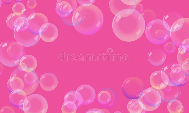 Bubbles On a pink background. royalty free stock image
