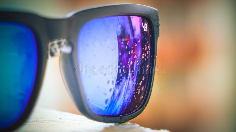 Bubbles Reflected On Lens Of Black Framed Sunglasses Free Public Domain Cc0 Image
