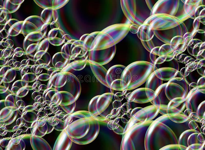 bubbles regnbågen royaltyfri illustrationer