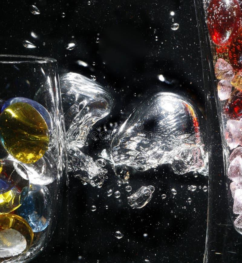 Bubbles rising stock image