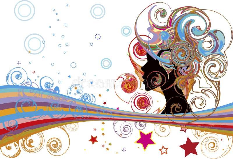 bubbles stjärnor vektor illustrationer
