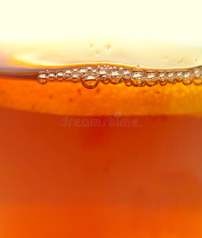 Bubbles of tea stock image