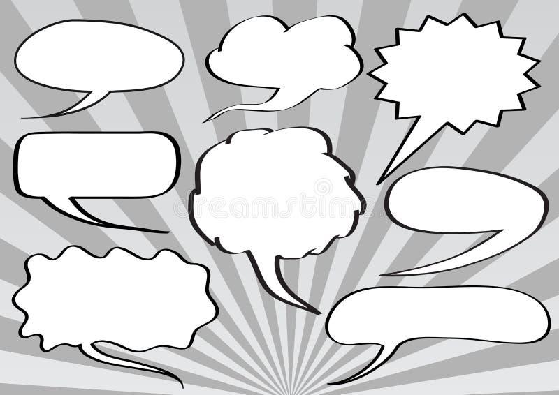bubbles text stock illustrationer
