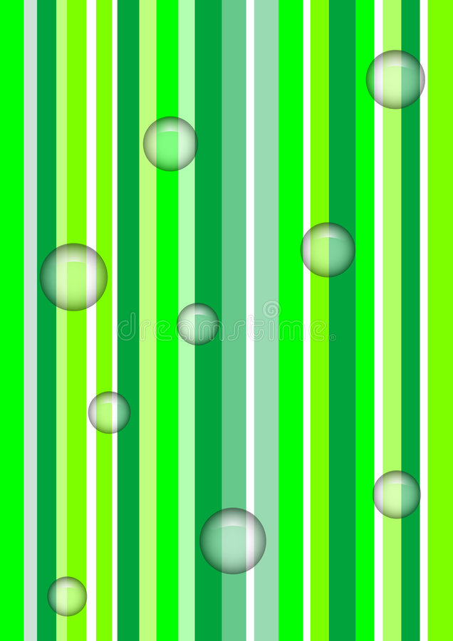 Bubbles under the green royalty free stock photography