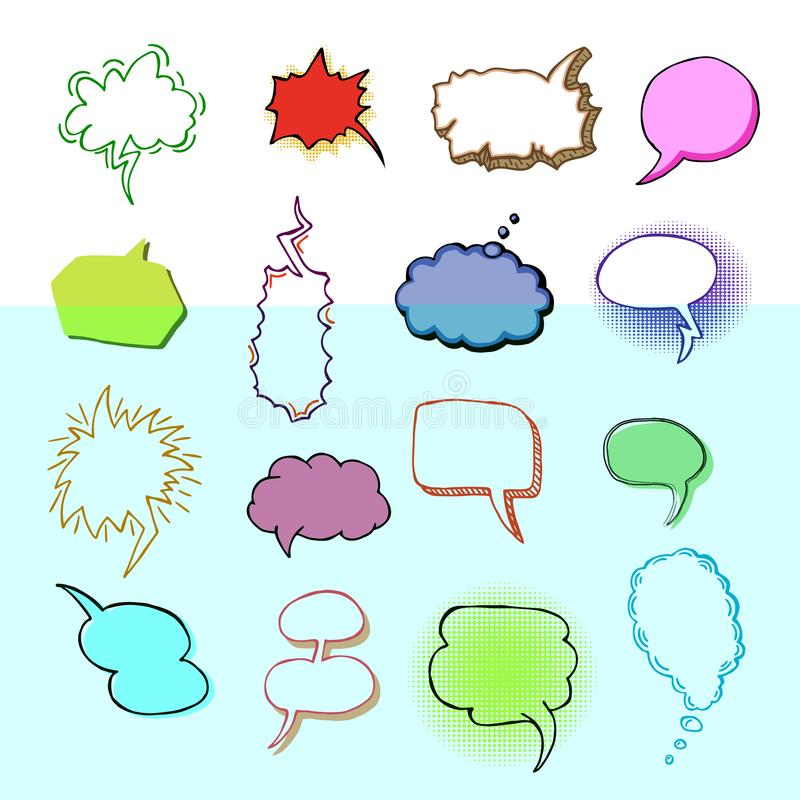 bubbles vector blank speech bubbling messages for communication or