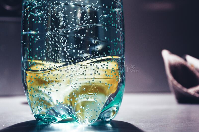 Bubbles in water stock photos