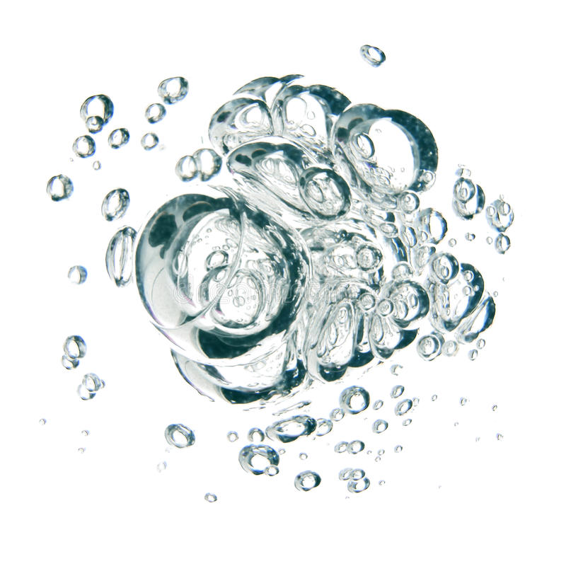 Download Bubbles Of Water Over White Background Stock Illustration - Illustration: 91612787