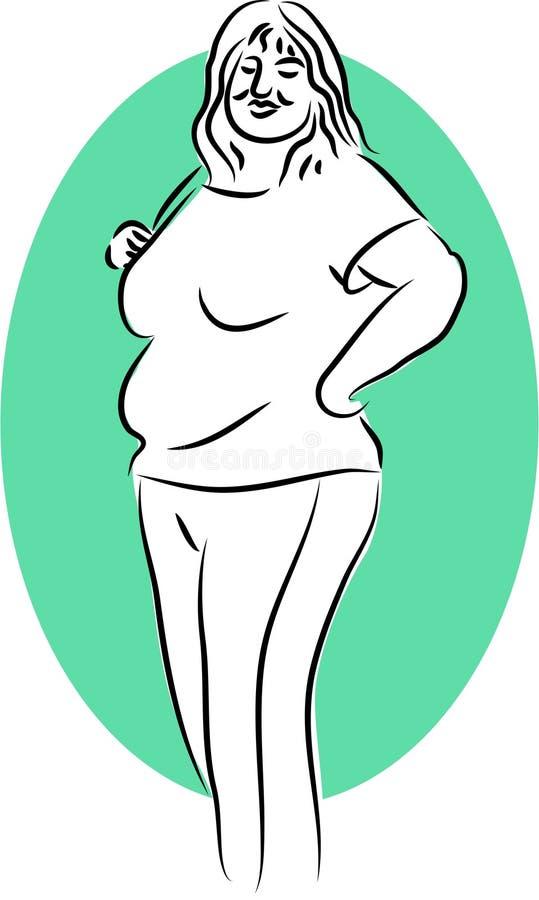 bubblig lady royaltyfri illustrationer