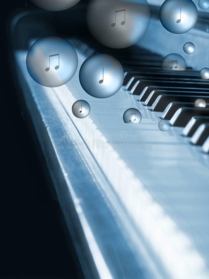 Bubbling piano royalty free stock photography
